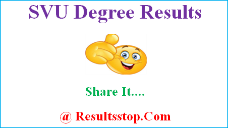 SVU Degree Results, SV University Results, SVU Results