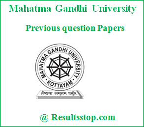 MG University previous Question papers, MG University Model question papers, MG University Previous year question papers