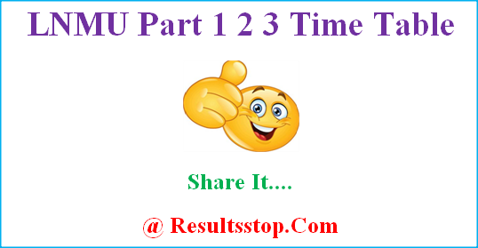 LNMU Time Table, LNMU Routine, LNMU exam date sheet, LNMU Program, Lalit Narayan Mithila University time table